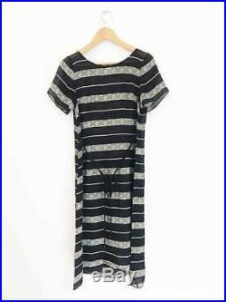 Designer Collette Dinnigan VTG Amazing Size S Dress + Silk Slip Women's Dress