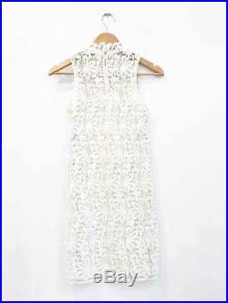 Designer VTG Crochet Lace 60s White Stunning Women's Dress Plus Scanlan Slip
