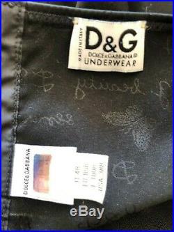 Dolce & Gabbana Lingerie Vintage Sheer Lace Slip Dress Size 38 B