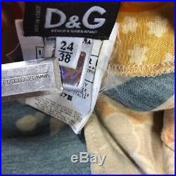 Dolce & Gabbana Womens dress vintage lace trim floral 2 slip bodycon 90's