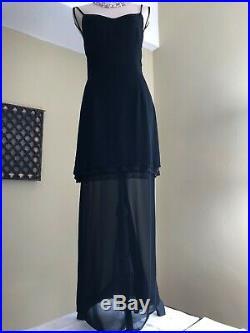 Dolce and Gabbana Vintage Evening Sheer Maxi Skirt and Mini Slip Dress