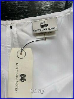 Dries Van Noten Vintage1990s White Rayon Slip Dress EU 38. Made In Belgium