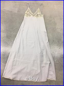 EXTREMELY RARE Montenapoleone Vintage Italy Lace Sheer Bust Lingerie Gown Dress