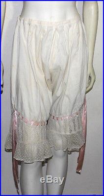 Edwardian era gloves bloomers knickers and slip dress 1903