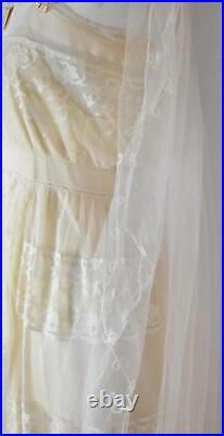 Edwardian lace wedding dress with under slip vintage bride registry