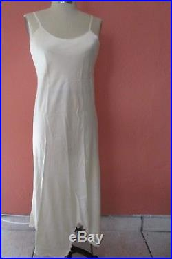 Elegant Lace Mesh Upcycled Dress Slip Vintage Ivory Bridal Tea Length