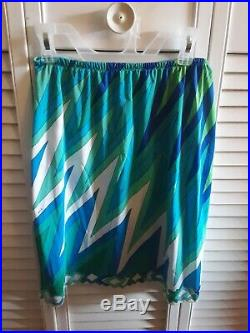 Emilio Pucci Formfit Rogers Vintage Lot Of 2 Mini Skirt Slips- Small