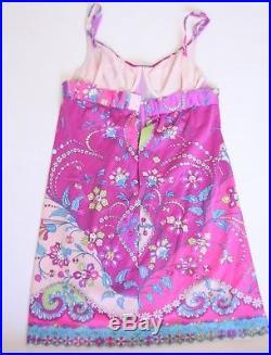 Emilio Pucci Vintage Lingerie Dress Sexy Bra Slip Formfit Rogers 34C 60's Mod