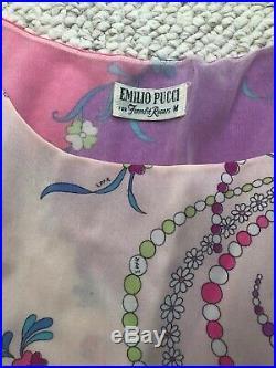 Emilio Pucci Vintage Lingerie Dress Slip Formfit Rogers Size M 60's Mod