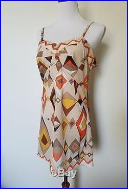 Emilio Pucci dress novelty slip Formfit Rogers s 60s vintage mod mini geometric
