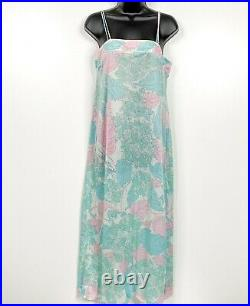 Emilio Pucci for Formfit Rogers Small Nightgown Floral Blue Slip Dress'03