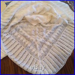 Estate Vintage Baby Embroidered Christening DRess Slip NOS Belgium SHawl White