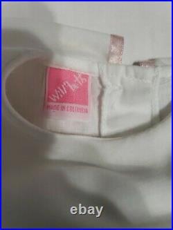 Ester Will'beth Baby Girls White Vintage Smocked Floral Lace Full Slip Dress 2t
