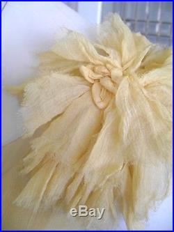 Exquisite Gossamer Chiffon 20's Deco Flapper Dress Net Inserts Original Slip 36