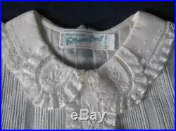 FELTMAN BROS Christening Dress, Vintage, Hand Emb, with Slip, New, Original Tags