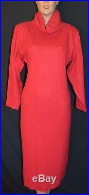 Fab Vintage 80s GUCCI 3 pc Rabbit Hair Sweater Dress Vest Coat Slip 44