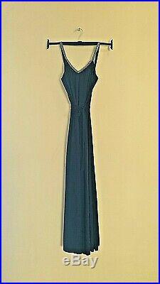 Fabulous Strappy Slip Dress Maxi 10/12 Glitter detail 70s Disco Diva Vintage