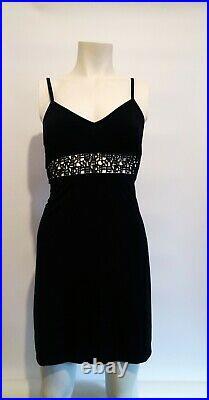 Fendi Zucca Vintage Slip Dress Black Small Fendi Logo