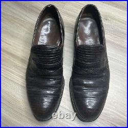 FootJoy Vintage Lizard Skin Loafers Slip On Shoes 8.5D