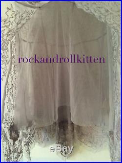 Free People Deep Sleep Beaded Slip Dress Vintage Gatsby Deco Lilac Xs Nwt $198