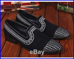 Fulinken 2 Color Sz 5-12 Vintage Suede Leather Loafers Dress Slip On Mens Shoes