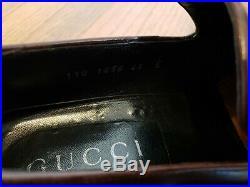 GUCCI Iconic Men's Vintage Brown Leather Tassel Slip-on Loafer Dress Shoe 41 E