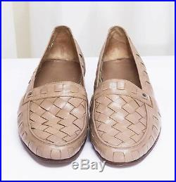 GUCCI Iconic Mens 1970's VINTAGE Taupe Leather Slip-On Loafer Dress Shoe 42