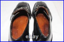 GUCCI Men's Size 9.5D Vintage Black Leather Slip Dress shoes Made In Italy