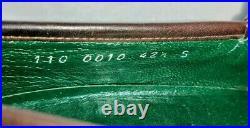 GUCCI Vintage brown Leather Stripe Horse Bit Loafer slip on size 9.5 US 42.5