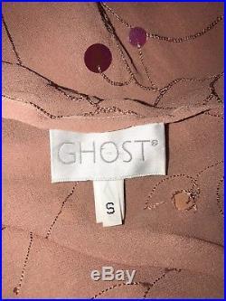 Ghost 90s Vintage Embellished Pink Slip Dress, Pre-owned. Size S