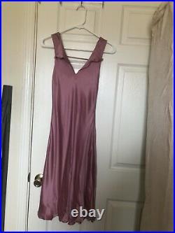 Giorgio Armani Vintage Rose Pink Silk Spring Summer Evening Dress