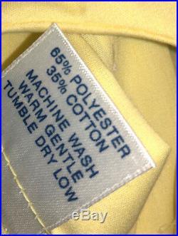 Girls vintage dress size 6 YELLOW LACE FULL SKIRT W SLIP NEVER WORN BEAUTIFUL