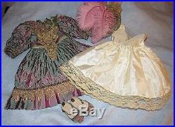 Gorgeous Vintage Reproduction French Doll Dress, Hat, Shoes & Slip Set 28-30