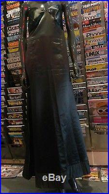 Gorgeous frock ART DECO SLIP DRESS BLACK SILKS VICTORIAN HANDMADE SNAPS VTG GOWN