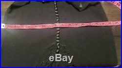Gruppo LA PERLA Sz S SILK LONG MAXI SLIP NIGHT GOWN SLEEP DRESS BLACK Vintage