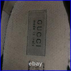 Gucci Black Cloth Monogram Slip On Shoes Size 10 Vintage