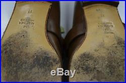 Gucci GG Loafers 225096 Moca 11 Slip on Men's Shoes Loafers VINTAGE Side Logo A