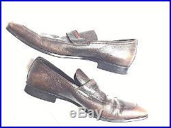 Gucci Men's Size 9.5 D Brown Slip-On Dress Shoes Vintage 161471 Leather