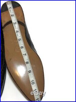 Gucci Mens Vintage NWOB Brown Leather Wingtip Tassel Brogue Slip On's 46.5 B