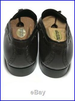 Gucci Mens Vtg NWOB Brown Leather Wingtip Brogue Slip On's 10.5 B