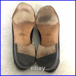 Gucci Vintage Mens Horse bit Dark Bro Loafers/Slips On Shoes size 42.5 US 9.5