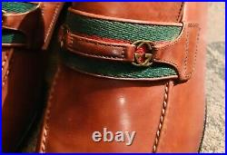 Gucci Vintage Slip-On Brown Leather Loafers US 10D (100% Genuine)