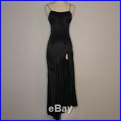 Gunne Sax Jessica McClintock Sleeveless Black Sexy Slip Dress XS VLV 90s y2k