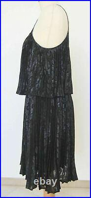 Halston Heritage Ladies Black Party Dress-us 6-used-excellent-free Postage World