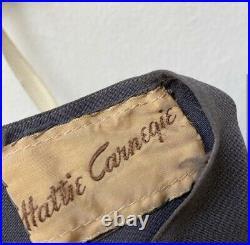 Hattie Carnegie 1920s Vintage Grey Silk Slip Size XS