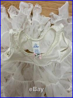 Her Majesty Vintage Sheer Full Slip Dress Ruffles Pageant Party Twrill Sz 18 Mo