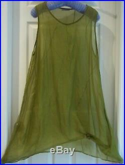 HomeFrocks Very beautiful Vintage home frocks silk random tuck slip dress