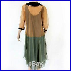Hopeless Romantic Nataya Plus Vintage Collared Bead Gown Dress Slip Set 2X