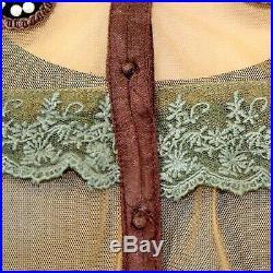 Hopeless Romantic Nataya Plus Vintage Collared Bead Gown Dress Slip Set 3X