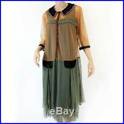Hopeless Romantic Nataya Vintage Collared Bead Gown Dress Slip Set 1X fits XL